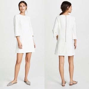 Alice + Olivia Gem 3/4 sleeve white dress | 0